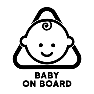 Naklejka BABY ON BOARD C024