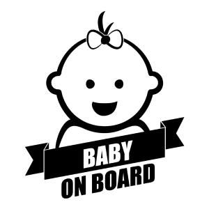 Naklejka BABY ON BOARD C041